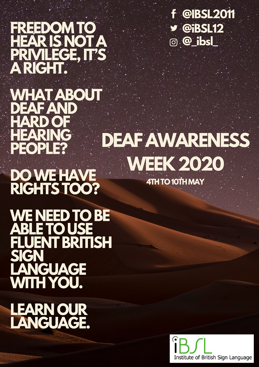 iBSL Deaf Awareness Week 2020